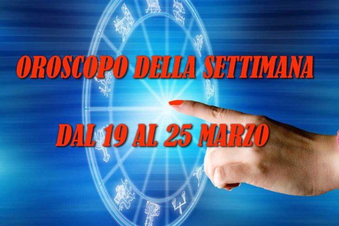 oroscopo della settimana dal 19 al 25 marzo