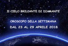 Oroscopo della settimana dal 23 al 29 aprile 2018
