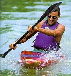 canoa lungo il Tevere