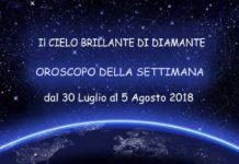 oroscopo della settimana dal 30 luglio al 5 agosto