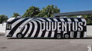 Il nuvo pulman della Juventus