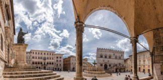 Vista della piazza di Perugia