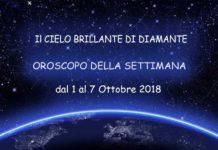 Oroscopo della Settimana dal 1 al 7 Ottobre 2018