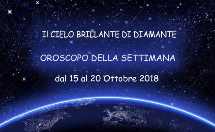 Oroscopo della Settimana dal 15 al 20 Ottobre 2018