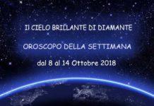 Oroscopo della Settimana dal 8 al 14 Ottobre 2018