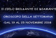 Oroscopo della Settimana dal 19 al 25 Novembre 2018