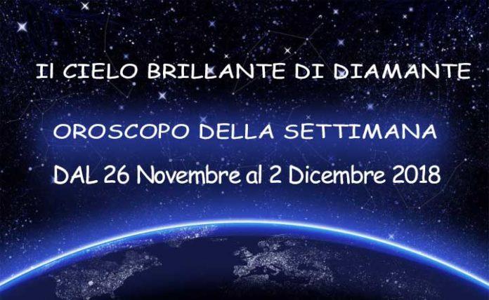 oroscopo della settimana dal 26 novembre al 2 dicembre 2018