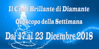 Oroscopo della settimana dal 17 al 23 Dicembre 2018