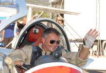Stefano Zuccarini a bordo dell'aliante