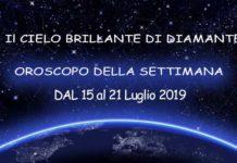 Oroscopo della settimana dal 15 al 21 Luglio 2019