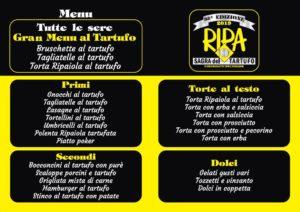 menu Sagra del tartufo
