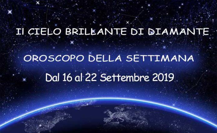 Oroscopo della settimana dal 16 al 22 Settembre 2019