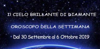 Oroscopo Settimanale dal 30 Settembre al 6 Ottobre 2019