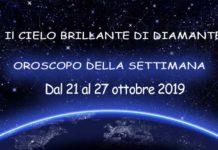 Oroscopo della Settimana dal 21 al 27 Ottobre 2019