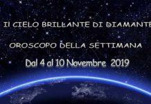 Oroscopo della settimana dal 4 al 10 Novembre 2019