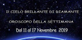 Oroscopo della Settimana dal 11 al 17 Novembre 2019