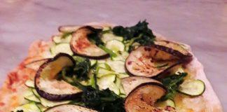 pinsa romana con verdure