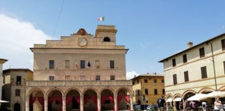 La piazza di Montefalco