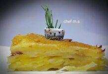 Millefoglie di patate con alici