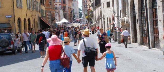 Turisti in Umbria