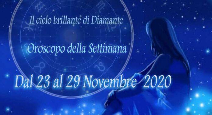 Oroscopo della prossima settimana dal 23 al 29 Novembre 2020